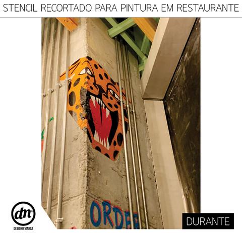 STENCIL RECORTADO PARA PINTURA EM RESTAURANTE