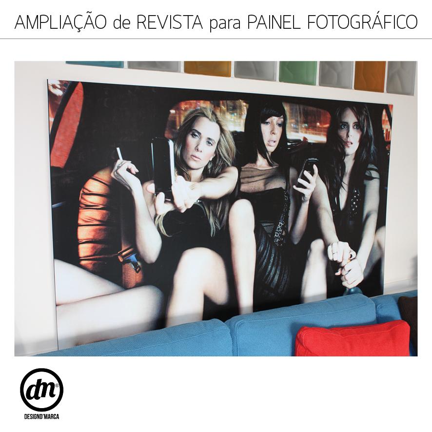 AMPLIAÇÃO DE REVISTA PARA PAINEL FOTOGRÁFICO