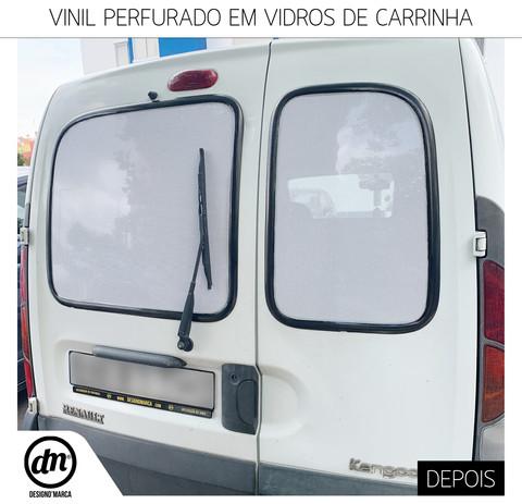 VINIL PERFURADO EM VIDROS DE CARRINHA