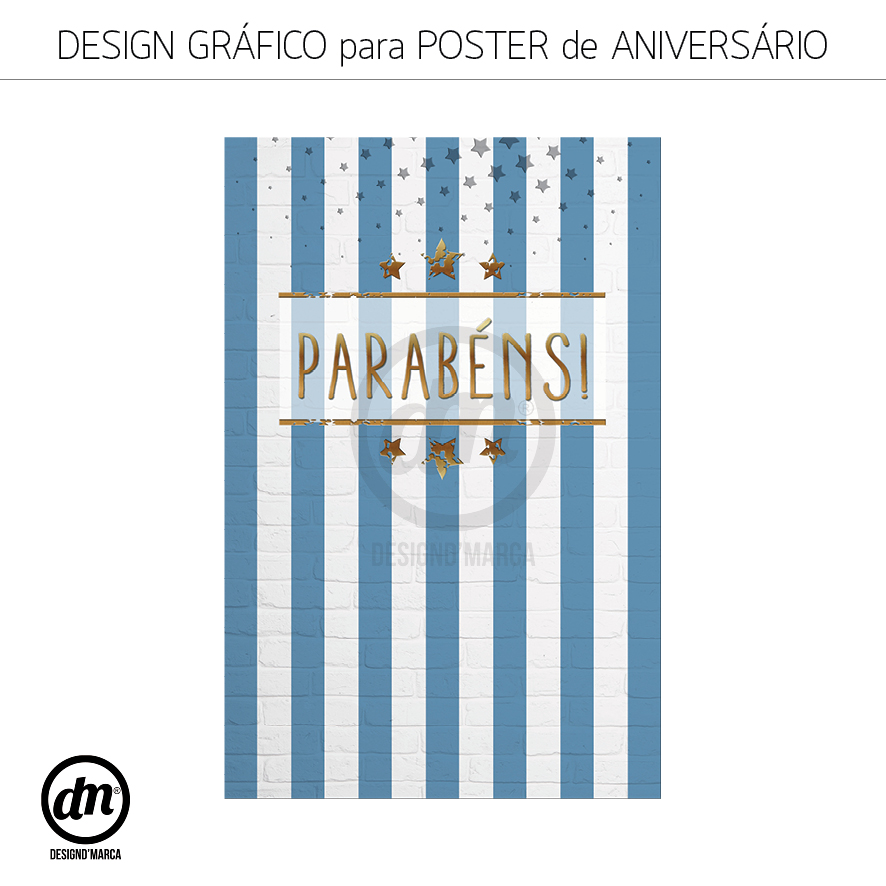 DESIGN GRÁFICO PARA POSTER DE ANIVERSÁRIO