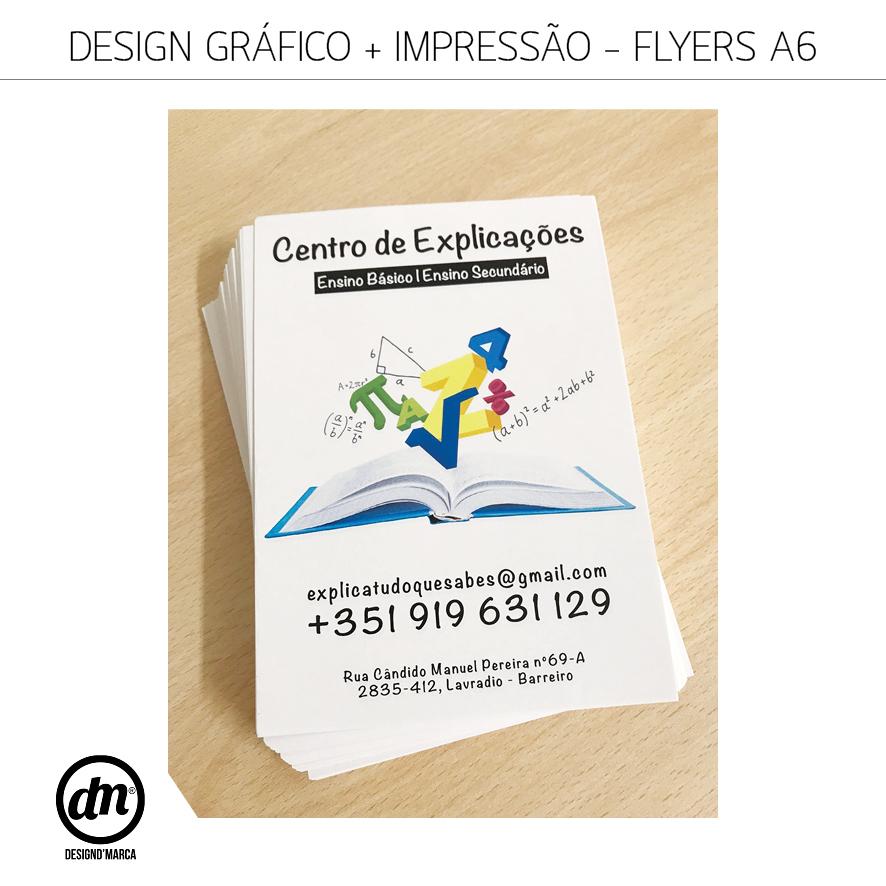 DESIGN GRÁFICO + IMPRESSÃO DE FLYERS