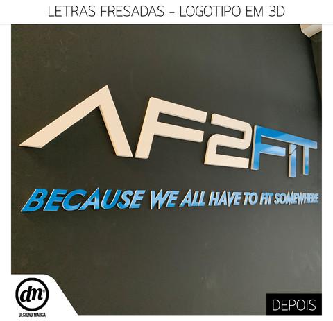 LETRAS FRESADAS - LOGOTIPO 3D