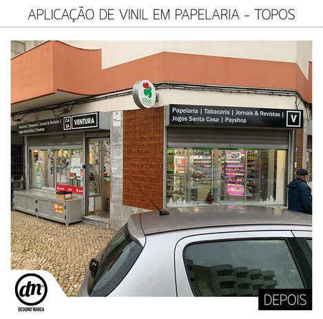 APLICAÇÃO DE VINIS EM PAPELARIAS - CASA VENTURA