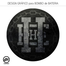 DESIGN GRÁFICO PARA BOMBO DE BATERIA