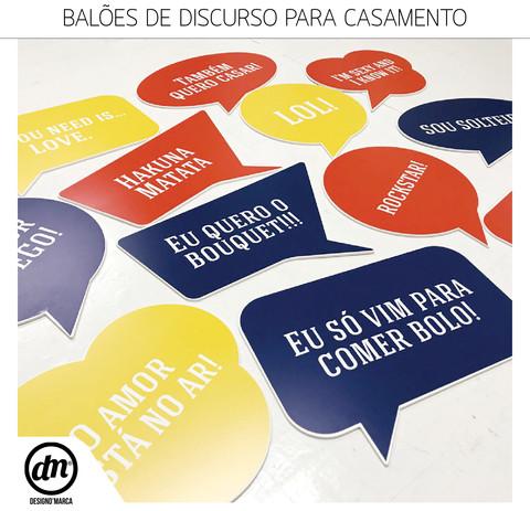 BALÕES DE DISCURSO PARA CASAMENTO