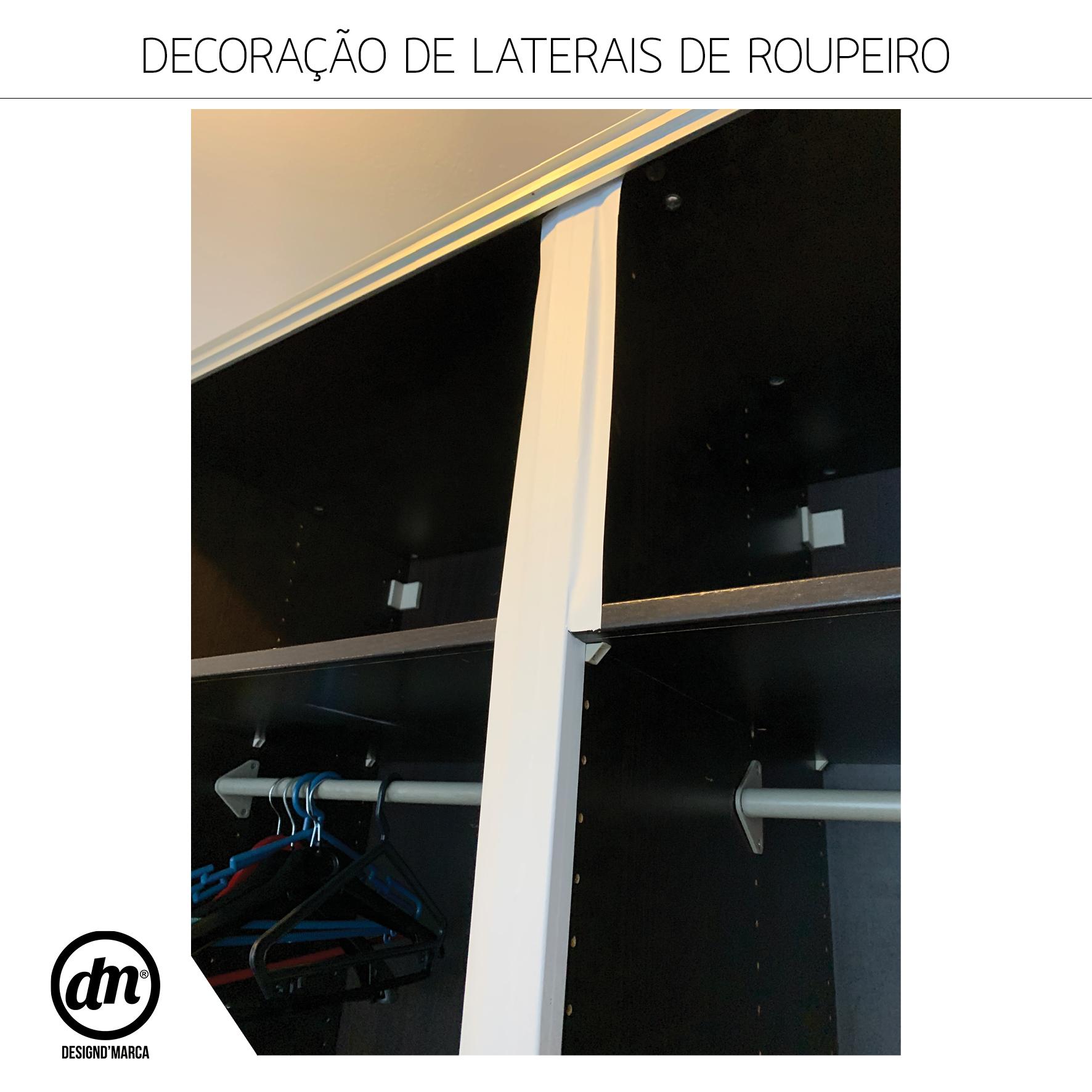 DECORAÇÃO DE LATERAIS DE ROUPEIRO