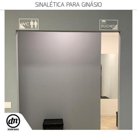 DESIGN GRÁFICO + PRODUÇÃO DE SINALÉTICA PARA GINÁSIO