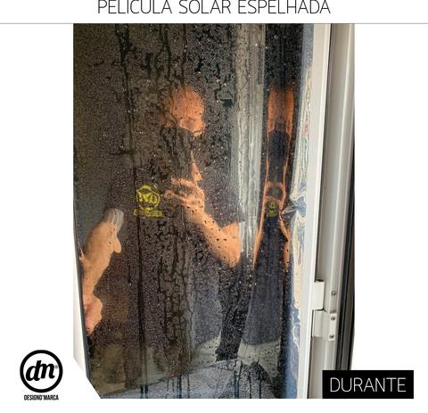 APLICAÇÃO DE PELÍCULA SOLAR ESPELHADA