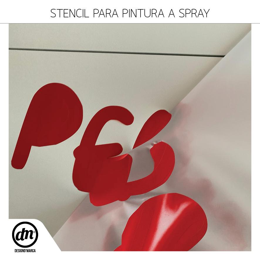 Stencil Recortado para Pintura a Spray