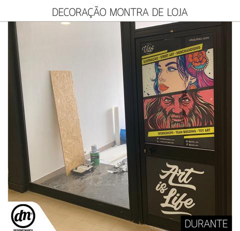 DECORAÇÃO DE MONTRA DE LOJA