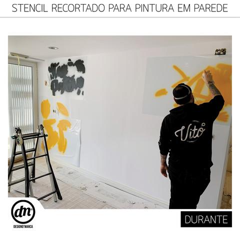 STENCIL RECORTADO PARA PINTURA EM PAREDE DE LOJA