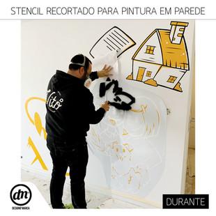 STENCIL RECORTADO PARA PINTURA EM PAREDE