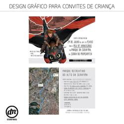 DESIGN GRÁFICO + PRODUÇÃO DE CONVITES DE CRIANÇA