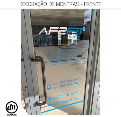 DECORAÇÃO DE MONTRAS (FRENTE E TRASEIRAS) DE GINÁSIO
