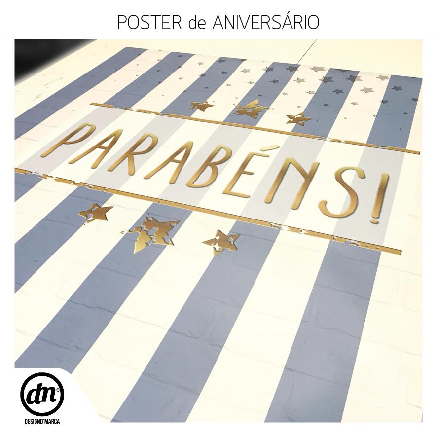 POSTER PARA ANIVERSÁRIO