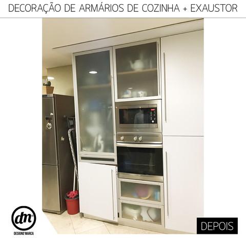 PERSONALIZAÇÃO DE ARMÁRIOS DE COZINHA + EXAUSTOR