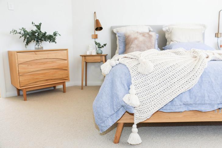 Master bedroom - modern retro tranquil fre