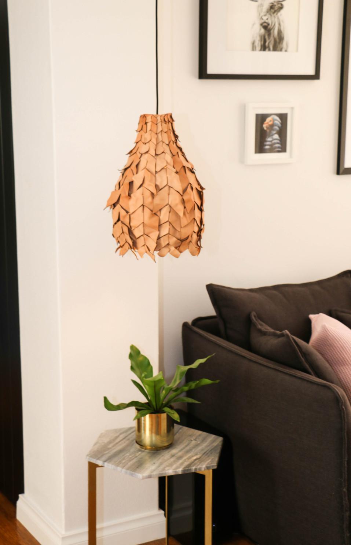 manly modern industrial living room custom leather pendant ligh