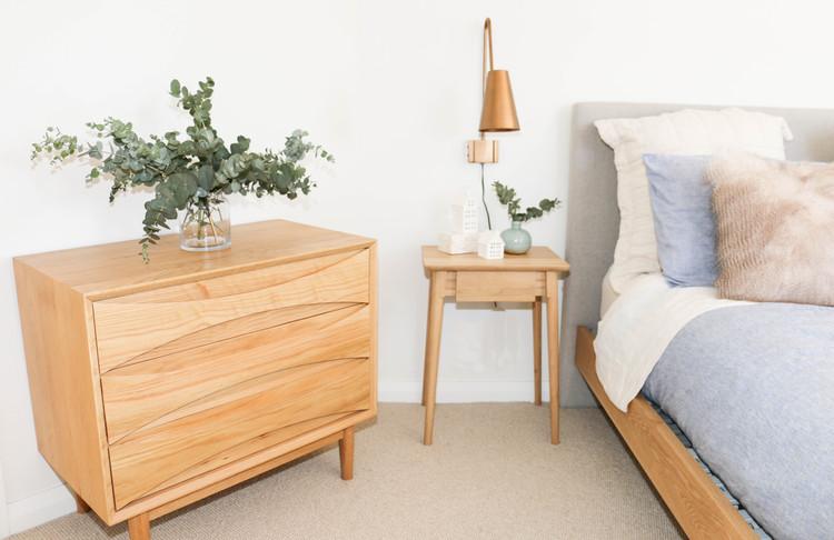 Master bedroom - modern retro tranquil