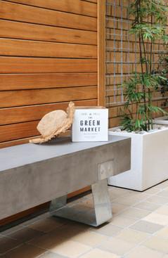 Courtyard - concrete bench