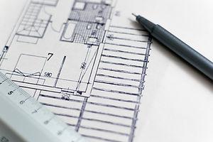 Interior design floor plans, sketches, furniture layouts