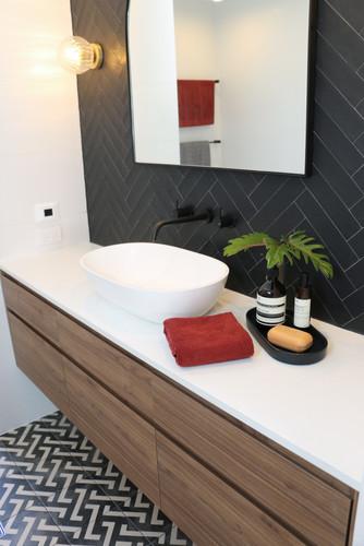 elizabeth bay road - modern contemporary bathroom