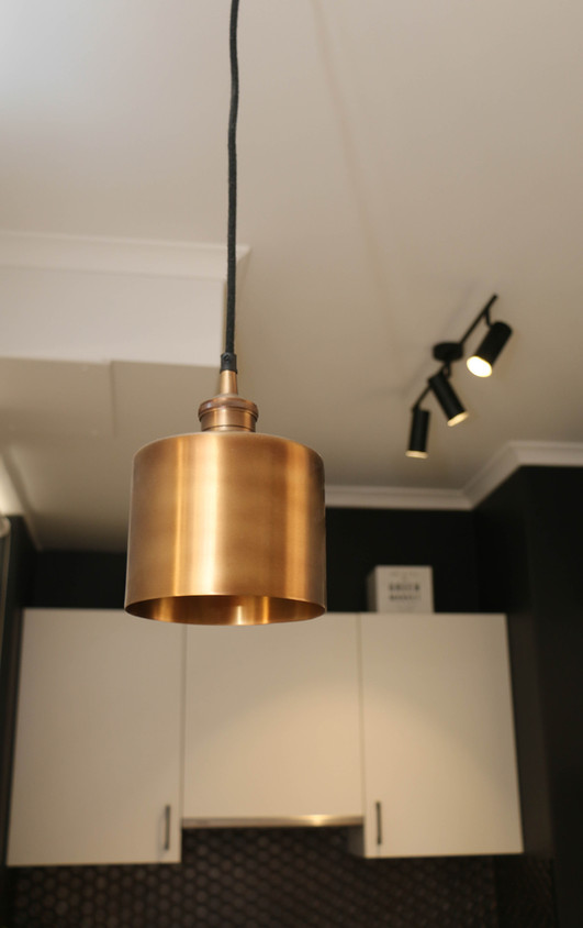manly kitchen - brass pendant