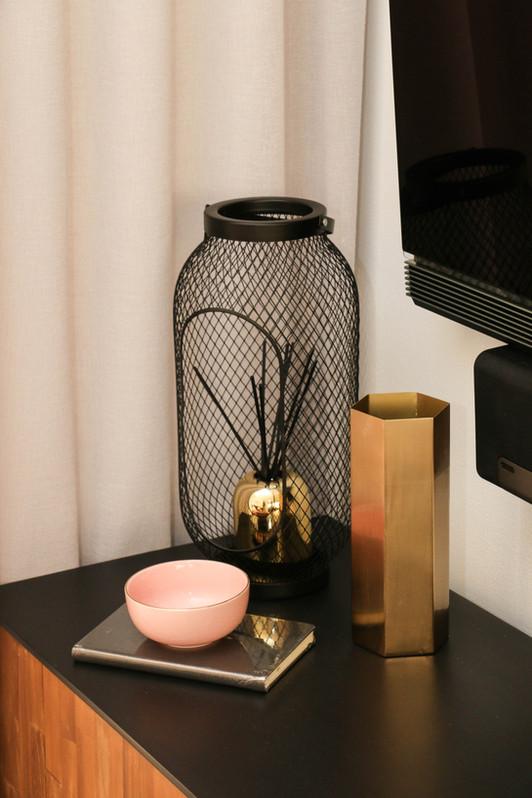 manly modern industrial living room - tv unit