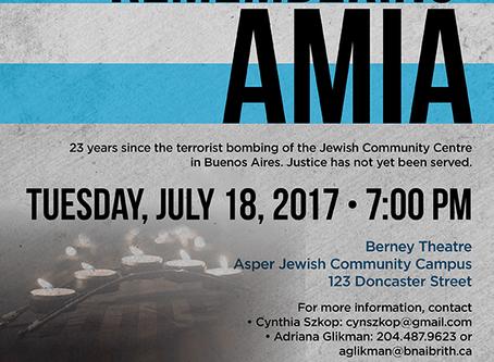 AMA conmemoro el 23 aniversario del atentado a la AMIA