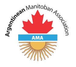El logo oficial de la asociación (un sol y una hoja de maple)
