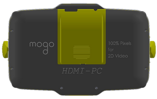 "MOGO-HDMI-PC is amended MOGO-Travel by build in 2K/6"" LCD providing immersive 90deg x 50deg field of view and operated from Personal Computer"
