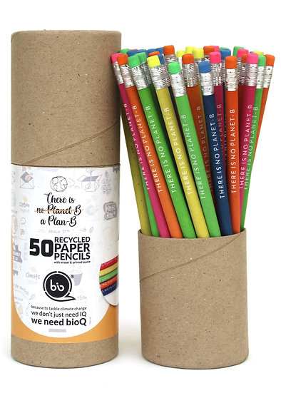 Recycled Paper Pencils with Eraser at Back Side Box of 50 Pencil