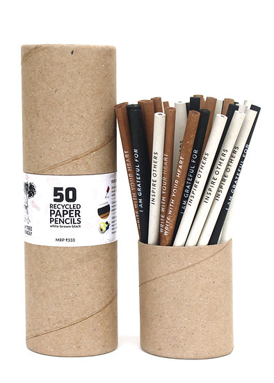 Recycled Paper Pencils With Quote Box of 50 Pencils