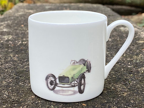Espresso Cup Cannon Trials car green