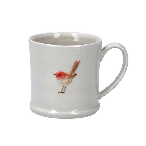 Ceramic Mini Mug with Robin