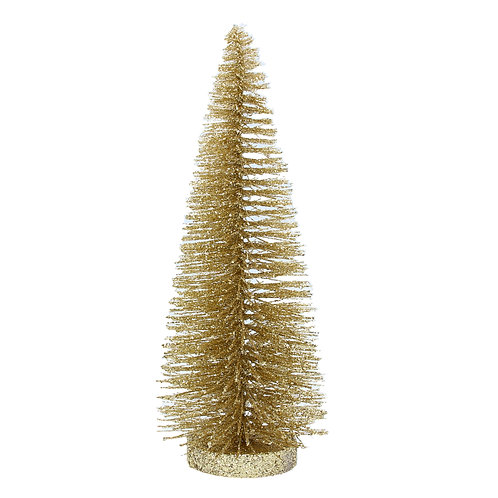 Gold Glitter Bristle Tree