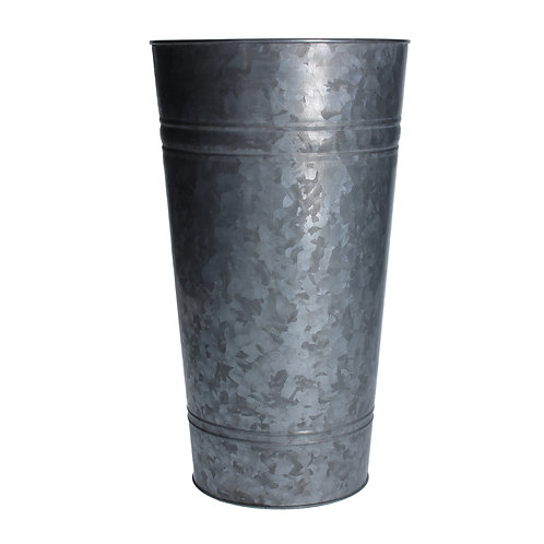 Galvanised Metal Flower Bucket Medium