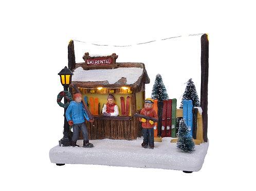 LED Ski Rental Booth