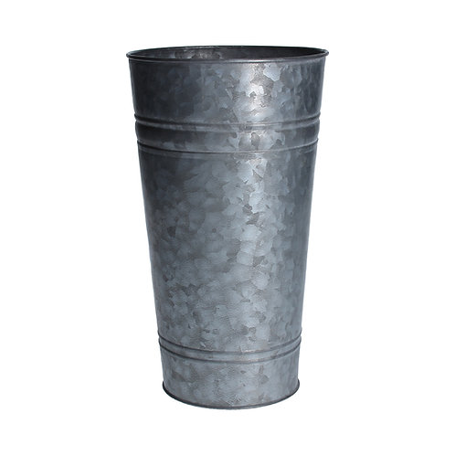 Galvanised Metal Flower Bucket Small