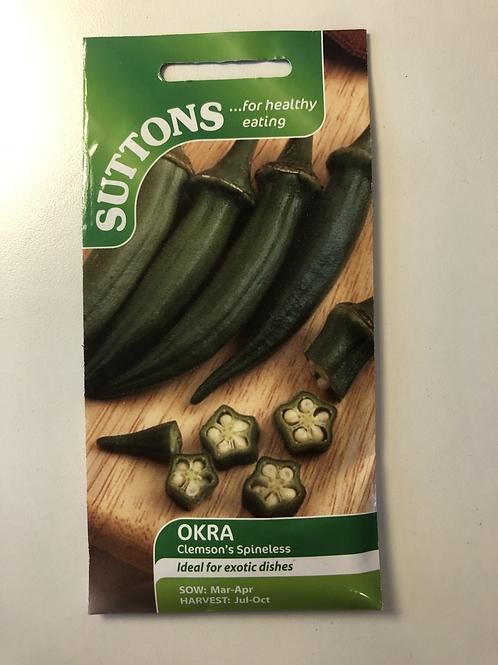 Okra 'Clemson's Spineless