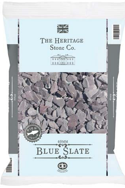 40mm Blue Slate Chippings