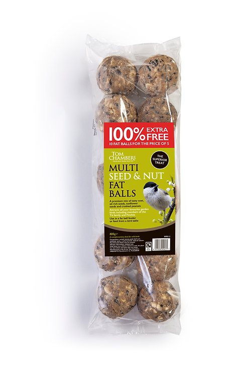 Multi seed and nut fat balls (10)