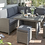 Thumbnail: Kettler Palma Mini Corner Suite with Glass Top table in Rattan