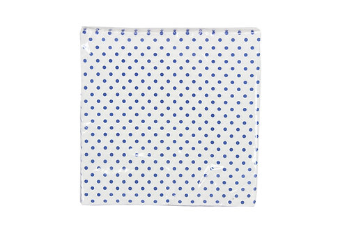 White Paper Napkin with blue dots