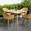 Thumbnail: Lifestyle Garden Nassau 4 Seater Set in Honey