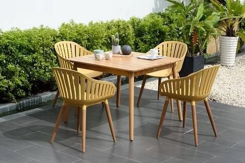 Lifestyle Garden Nassau 4 Seater Set in Honey