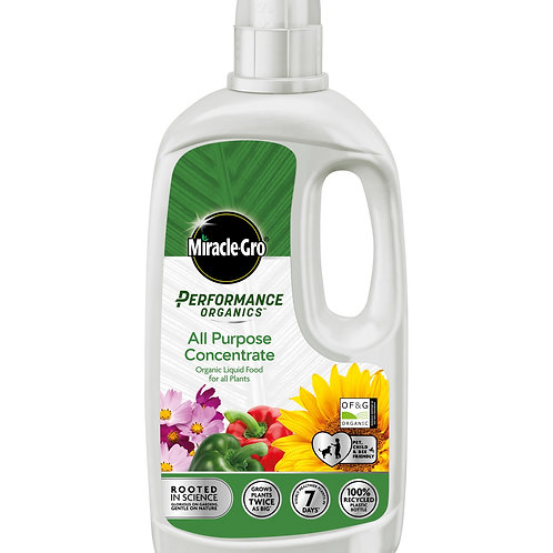 Miracle Gro Performance Organics All Purpose Liquid Concentrate Food