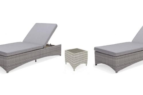 Lifestyle Garden Aruba Sun Lounger Set with Coffee Table