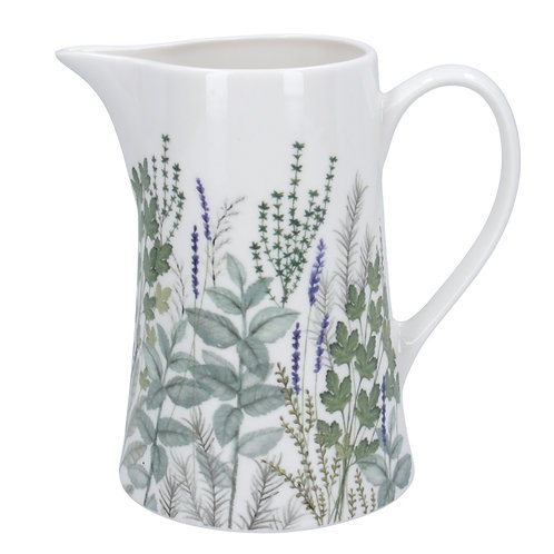 Herbs Ceramic Jug Medium