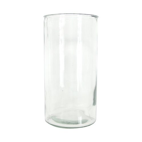Clear Glass Straight Vase Small